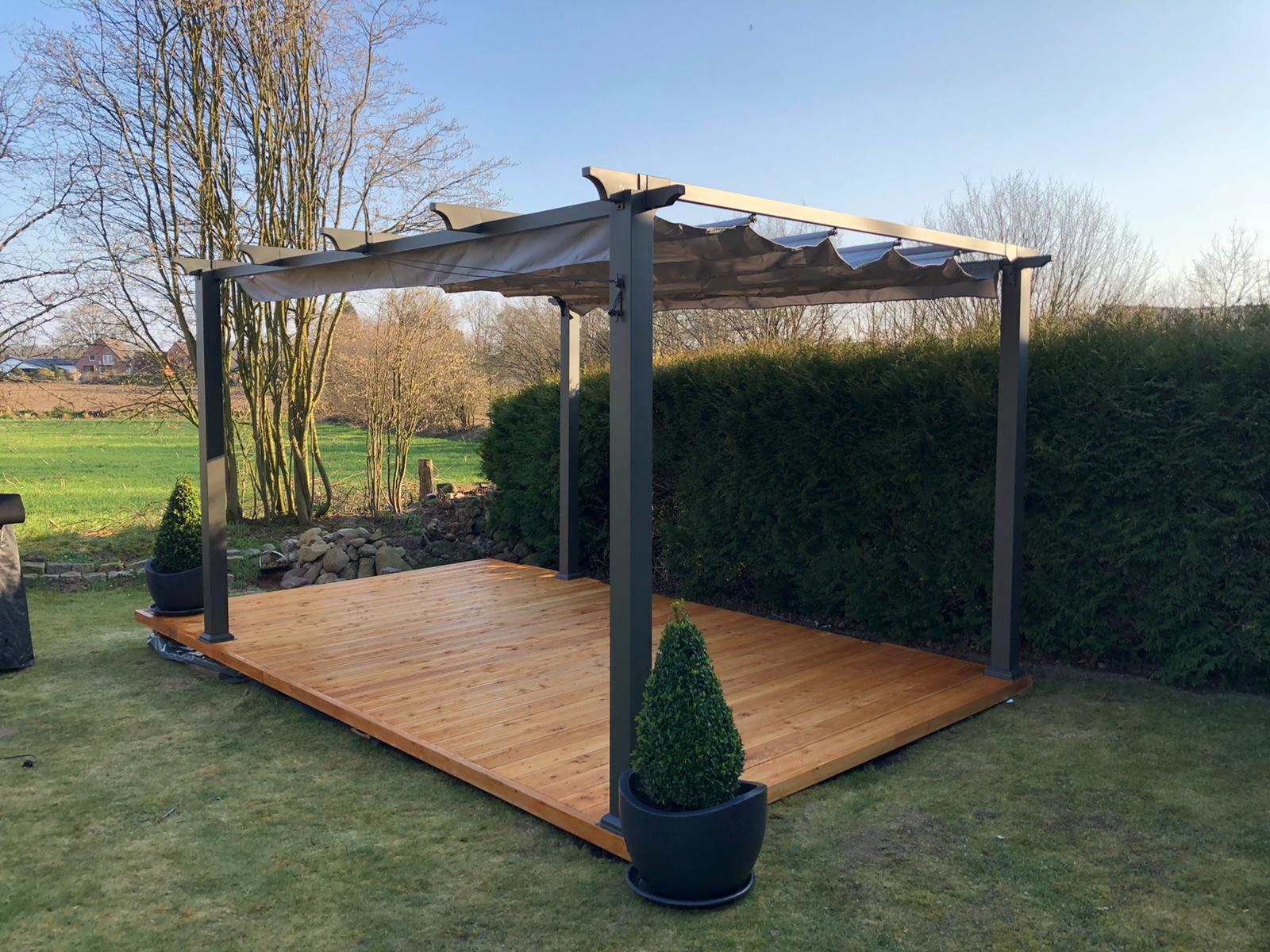 Bausatz Holzterrasse Terrassendielen inkl. UK und Schrauben ...